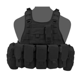 Warrior Elite Ops MOLLE RICAS COMPACT DA with 5 M4 Mags, 2 Utility, 1 Admin (BLACK)