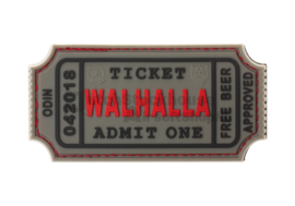 JTG Large Walhalla Ticket Rubber Patch