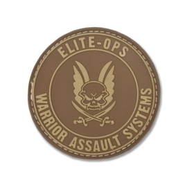 Warrior Round Rubber Logo Shield Patch (DARK EARTH)