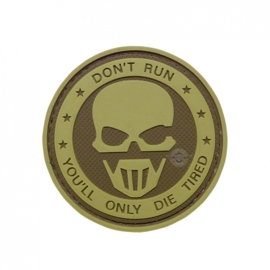 5-Star PVC MORALE PATCH - DON'T RUN - GHOST