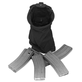 Warrior Elite Ops MOLLE SlimLine Foldable Dump Pouch (BLACK)