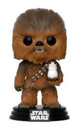 FUNKO Star Wars Solo Chewbacca with Porg Funko POP figure (195)