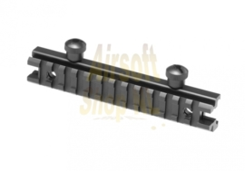 """LEAPERS UTG 0.5"""" High 13-slot Low-profile Full Size Riser Mount (LOW)"""