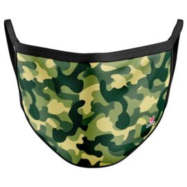 MASKFY Green Camouflage adult reusable mask