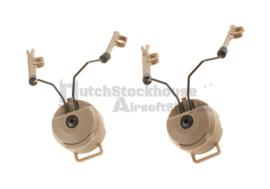 FMA Rail Adaptor Z3AD for Comtac I and II Headset. Dark Earth