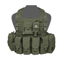 Warrior Elite Ops MOLLE 901 BRAVO M4 with 2 Utility, Admin, Compass, Single Pistol, 4 x M4 Pouches, With ZIP (OLIVE DRAB)