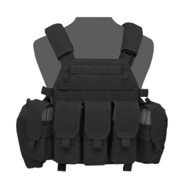 Warrior Elite Ops MOLLE DCS BASE with 5 covered 5.56 M4 Mag, 2 Utility Pouches (BLACK)