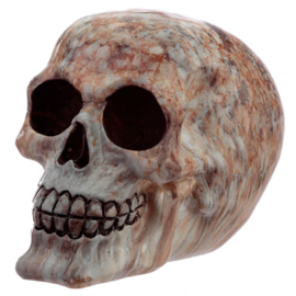 Marble Effect Skull Ornament figure