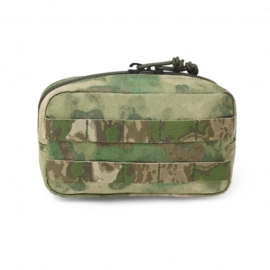 Warrior Elite Ops MOLLE Medium Horizontal Pouch Zipped (ATACS-FG)