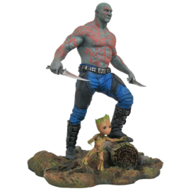 Marvel Guardians of the Galaxy Vol. 2 Drax and Baby Groot statue - 25cm