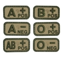 VIPER BLOOD GROUP RUBBER PATCHES (VCAM)