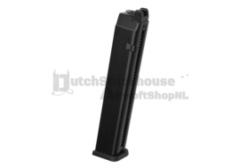 WE Pistol Magazine M9 GBB Extended Capacity 50rds Blac