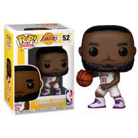 FUNKO POP figure NBA Lakers Lebron James White Uniform (52)