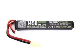 NUPROL 1450mah 7.4v Lipo 30c Stick Type Battery