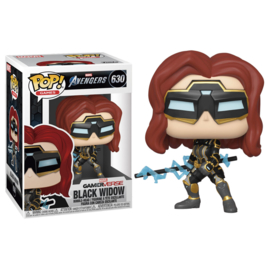 FUNKO POP figure Marvel Avengers Game Black Widow Stark Tech Suit (630)