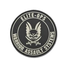 Warrior Round Rubber Logo Shield Patch (BLACK)