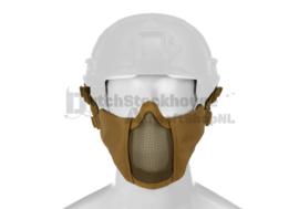 INVADER GEAR Mk.II Steel Half Face Mask - FAST HELMET Version (TAN)