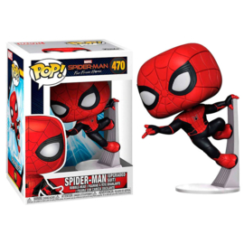 FUNKO POP figure Marvel Spiderman Far From Home Spiderman Upgraded Suit (470)