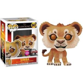 FUNKO POP figure Disney The Lion King Simba - Flocked Exclusive (547)