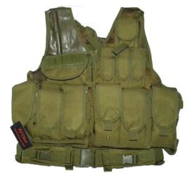 KJ. Claw Cross Draw 600D Tac Vest. OD