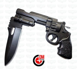 DM Diffusion Revolver Python knife in black 440 stainless steel