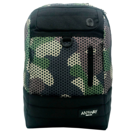 Camouflage multifunction backpack - 44cm