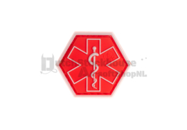 JTG Paramedic Hexagon Rubber Patch (RED)