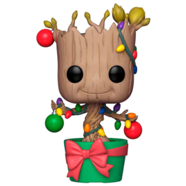 FUNKO POP figure Marvel Holiday Groot with Lights & Ornaments (399)