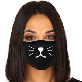 Cat reusable mask 3 layers