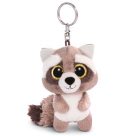 Nici Glubschis Clooney Raccoon plush key chain - 9cm