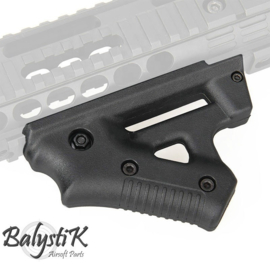 Balystik Fighter Angled Fore Grip for Weaverrail.