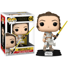 FUNKO POP figure Star Wars The Rise of Skywalker Rey with Yellow Saber (432)