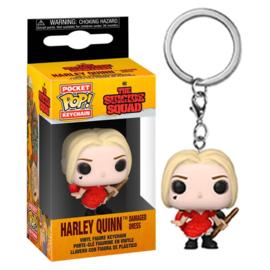 FUNKO Pocket POP Keychain DC The Suicide Squad Harley Quinn Damaged Dress