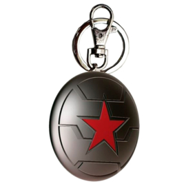 Marvel Winter Soldier metal keychain