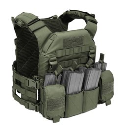 Warrior Elite Ops MOLLE Recon Plate Carrier (SAPI) with Pathfinder Chest Rig Combo (OLIVE DRAB)
