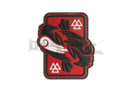 JTG Odins Raven Rubber Patch - Red Sky