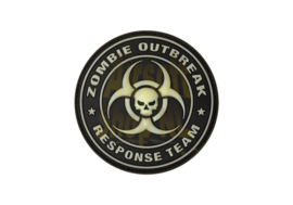 JTG Zombie Outbreak Rubber Patch - Glow in the dark
