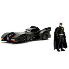 Batman DC Comics Batmobile 1989 metal metal Car & Figure set  - Scale 1:24