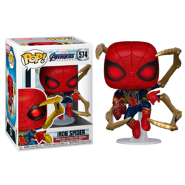 FUNKO POP figure Marvel Avengers Endgame Iron Spider with Nano Gauntlet (574)