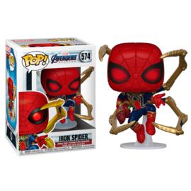 FUNKO POP figure Marvel Avengers Endgame Iron Spider with Nano Gauntlet (574)