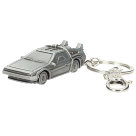 Back to the Future Delorean 3D metal keychain