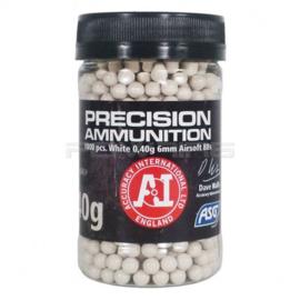 ASG 0.40 Precision Ammunition BB's 1000rds Bottle - White