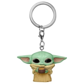 FUNKO Pocket POP keychain Star Wars The Mandalorian Yoda The Child with Cup