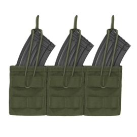 Warrior Elite Ops MOLLE Triple Open AK 7.62mm Mag / Bungee Retention 3 Mag (OLIVE DRAB)