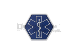 JTG Paramedic Hexagon Rubber Patch (BLUE)