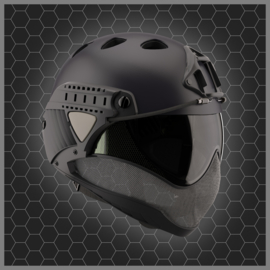 WARQ Full face Helmet - CLEAR Lens (BLACK)