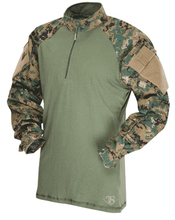TRU-SPEC TRU Combat Shirt 1/4 ZIP MARPAT Digital Woodland