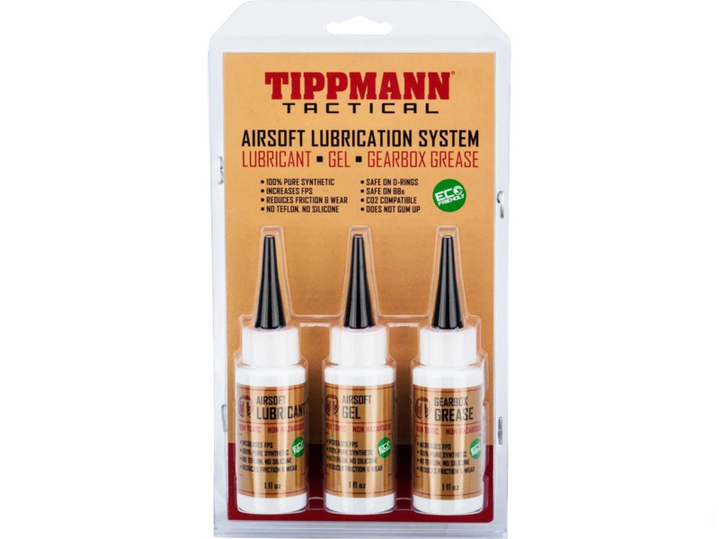 TIPPMANN Airsoft Lubrication Kit Oil, Gel, Gearbox Grease