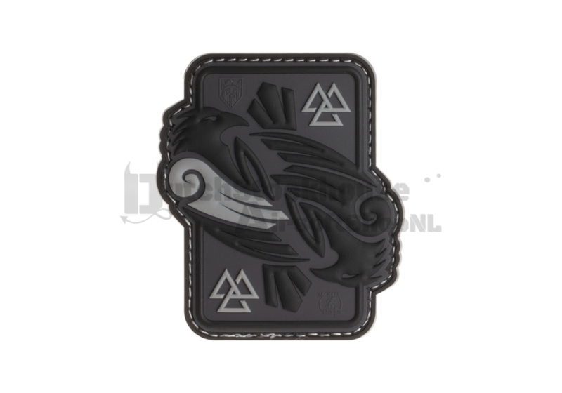 JTG Odins Raven Rubber Patch - Grey