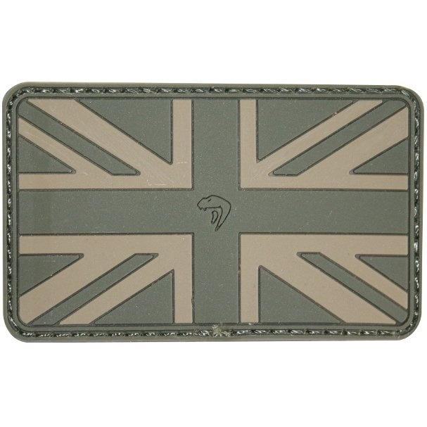 VIPER RUBBER UNION JACK PATCH (GREEN)